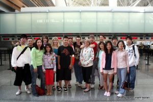 Wushu West at the airport