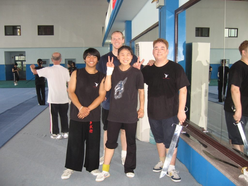 Johnny, Mike, Yang Bei Bei, and Mark
