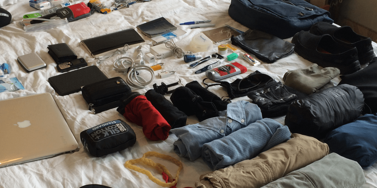 Man vs. Bag: Minimalist packing for maximum flexibility